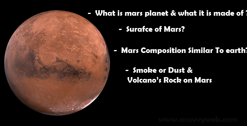 composition of planet mars - photo #14