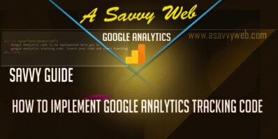 How to Impement google analytics