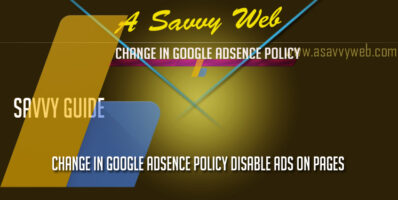 Change in google Adsence policy