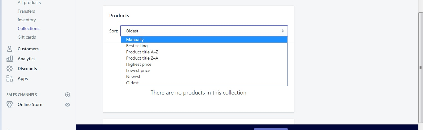 Change the Order of Products in Shopify Store Collections