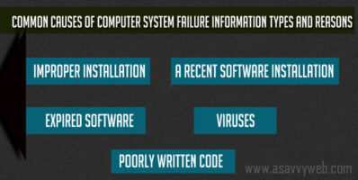 Common Causes of Computer System Failure Information Types and Reasons