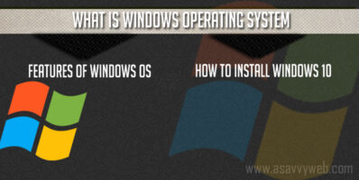 What is Windows Operating System & Features of Windows and How to Install Windows 10