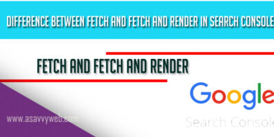 Difference between Fetch and Fetch and Render in Search Console