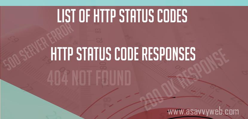 List of http status code response