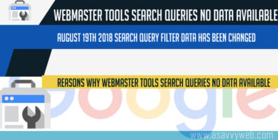 Why Webmaster Tools Search Queries No Data Available