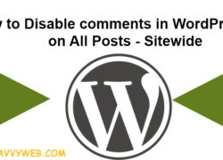 how to disable comments in WordPress on all posts