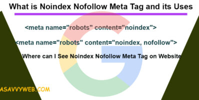 What is Noindex Nofollow Meta Tag and its Uses