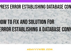 WordPress Error Establishing Database Connection