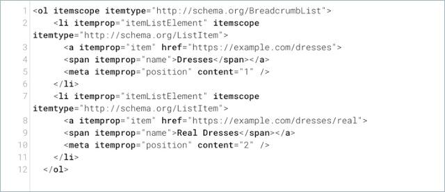 schema-markup by google