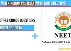 Neet MCQ Kingdom Protista important questions