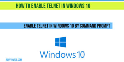 Enable telnet in windows 10 by command prompt