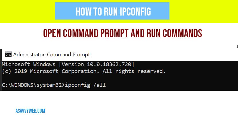 how-to-run-ipconfig-in-windows