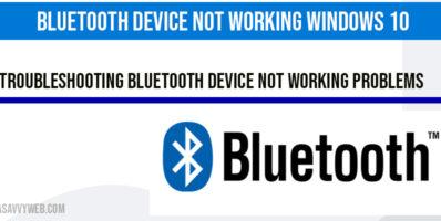 Bluetooth Device Not Working Windows 10