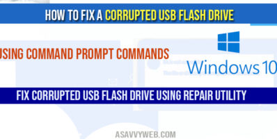 How To Fix a Corrupted USB Flash Drive