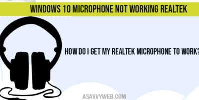 How do I get my Realtek microphone to work