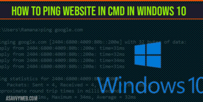 How to Ping Website in CMD In Windows 10