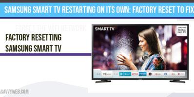 Samsung smart tv restarting on its own