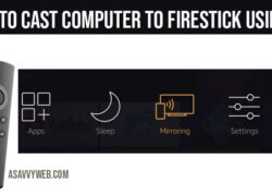 How to cast computer to firestick using wifi