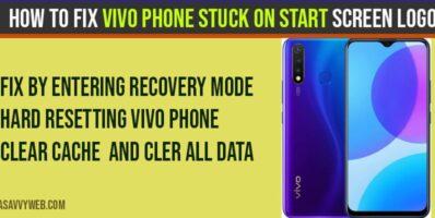 Vivo Phone Stuck on Start Screen Logo