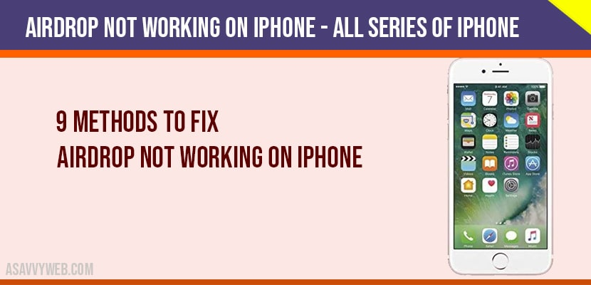 Airdrop not working on iphone - All Series of Iphone