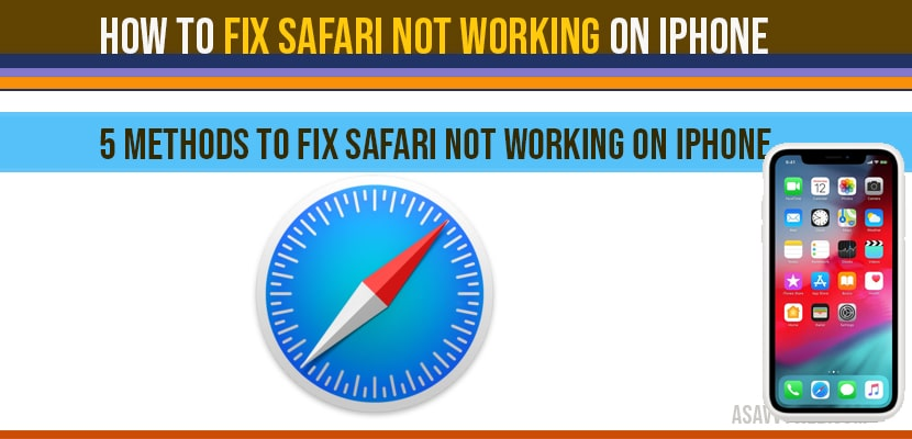 How to fix safari not working on iPhone