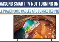 Samsung Smart TV Not Turning on red led light