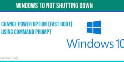 Windows 10 not shutting down