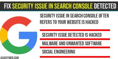 Fix Security issue in search console Detected