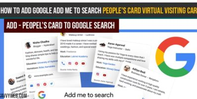 How to Add Google Add me to search people's card Virtual Visiting Card