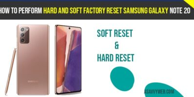 How to perform Hard and Soft Factory Reset Samsung Galaxy Note 20