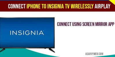 Connect iPhone to insignia tv wirelessly airplay