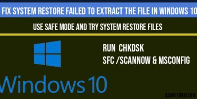 Fix system restore failed to extract the file in windows 10