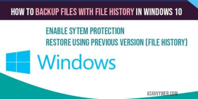 How to backup files with file history in windows 10