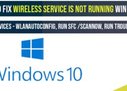 How to fix wireless service is not running windows 10