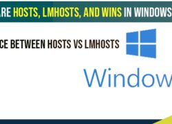 What are HOSTS, LMHOSTS, and WINS in Windows 10