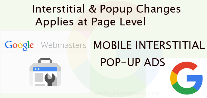 New Mobile Interstitial & Popup Change Applies at Page Level