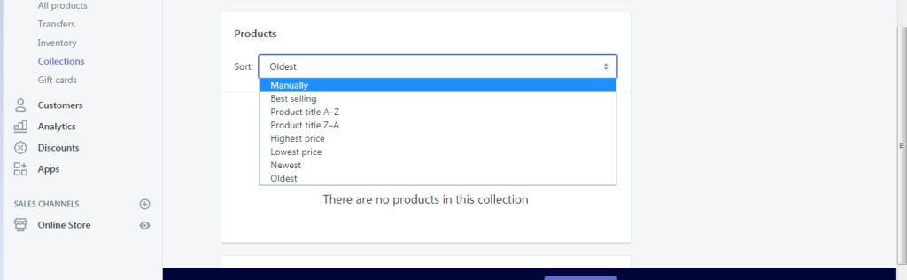 Change the Order of Products in Shopify Store Collections1