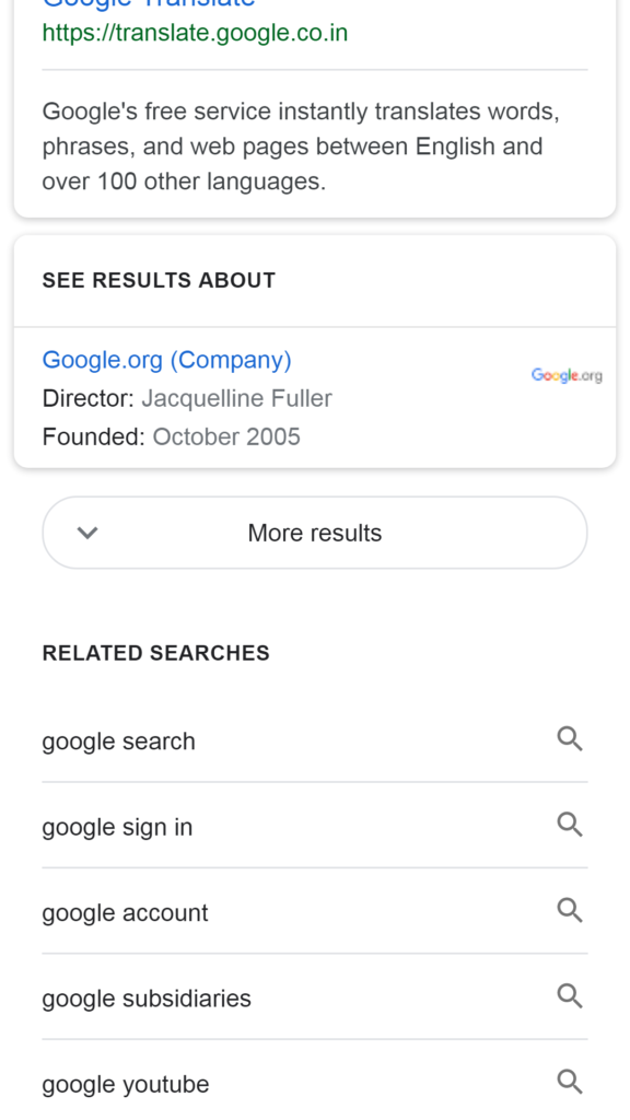 google more results