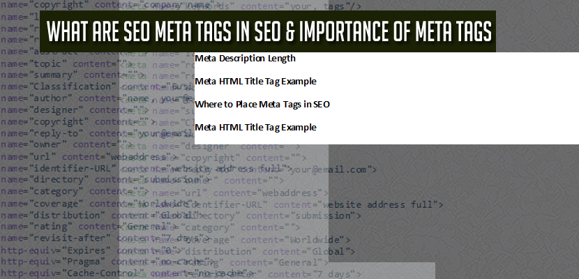 what are seo meta tags an importance of meta tags in seo