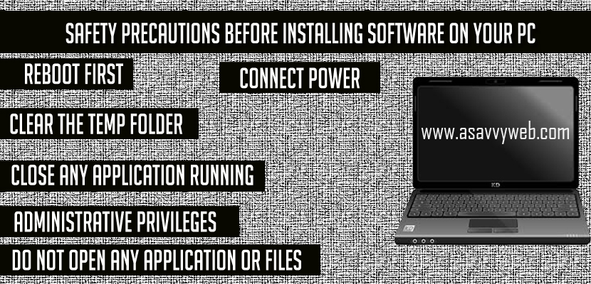 Safety Precautions Before Installing Software on Your PC