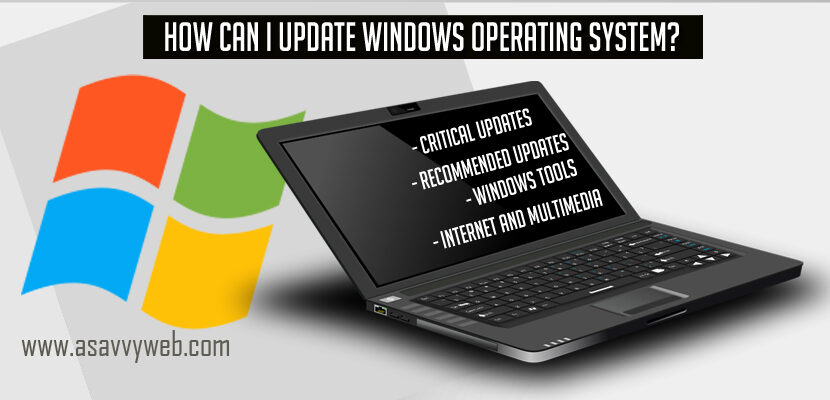 How Can I update Windows Operating System