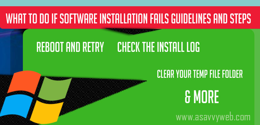 What to Do if Software Installation Fails Guidelines and Steps