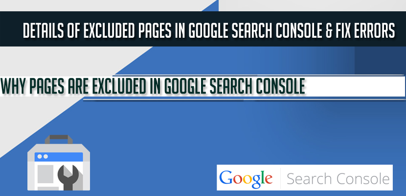 Details of Excluded pages in Google search console & Fix Errors