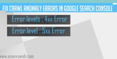Fix Crawl Anomaly Errors in Google Search Console
