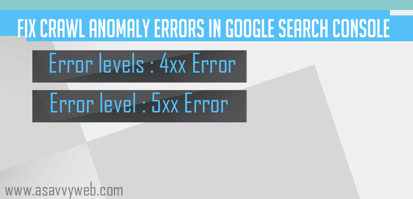 Fix Crawl Anomaly Errors in Google Search Console