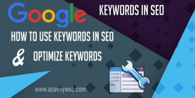 Ho to use keywords in seo and Optimize keywords