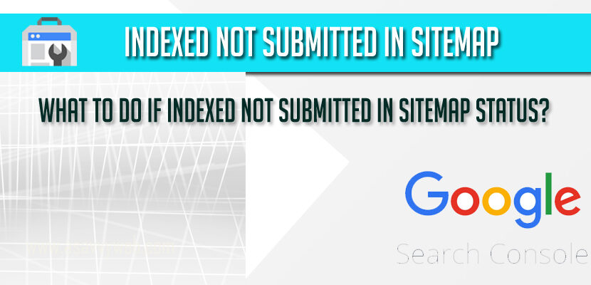 Indexed not submitted in sitemap Status in Google Search Console