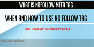 What is Nofollow Meta Tag & When and How to Use No Follow Tag