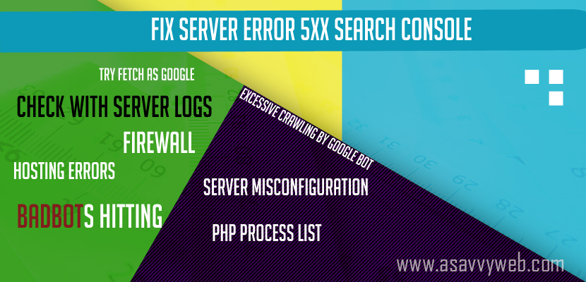 Fix Server Error 5xx Search Console