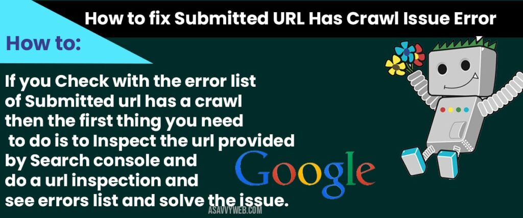 Submitted URL Has Crawl Issue Error in Search Console